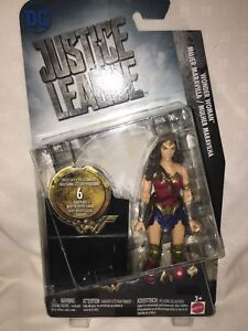 "Mattel DC Comics Justice League Wonder Woman 6"" Action Figure NEW"
