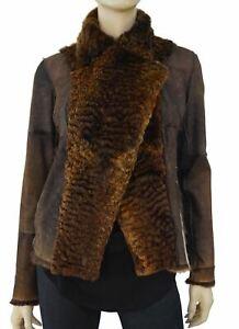 SAKS FIFTH AVENUE Reversible Shearling Leather Biker Jacket XS