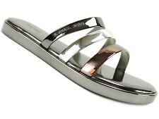 Michael Kors 7 M Keiko Slide Metallic Gold Slides Sandals Casual Slippers