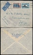 CEYLON 1938 INSUFFICIENTLY PAID for AIRMAIL..SLOGAN MACHINE GALLE FACE HOTEL ENV