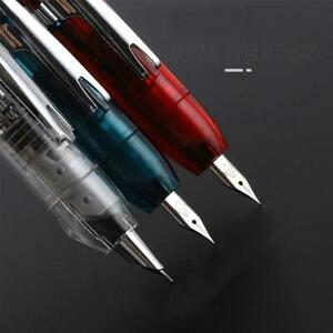 Piston Fountain Pen Transparent Iridium F Nib Ink Pen Original Box