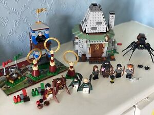 Lego Harry Potter Sets 4738 Hagrid's Hut & 4737 Quidditch Match 100% Complete