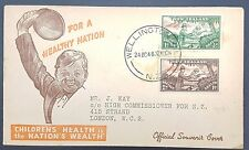 New Zealand 1946 Health Stamps Illustrated FDC, Wellington Cancel to GB