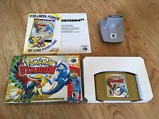Pokemon Stadium 2 Nintendo 64 Game Tested w/Box and Transfer Pak Yellow Blue Red