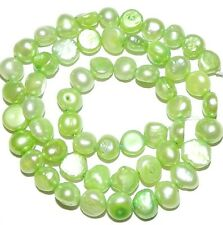 NP155 Spring Green Freshwater Potato Pearl 8-9mm 15""