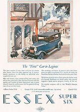 1928 Vintage Essex Super Six 6 Car Automobile Art Print AD