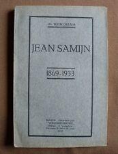 Livre «In memoriam – Jean Samijn», édité en 1933