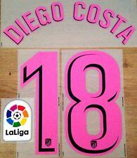 Atlético Madrid 3rd Camisa 2017-18 Diego Costa #18 número de nombre oficial conjunto de parche