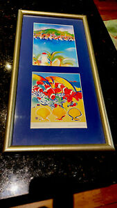 """Helen Wiltshire Hamilton Island  Harbour-""""Clowns & Clams"""" Signed 1990's-Framed."""