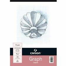 Canson A4 2mm, 10mm, 20mm Grid Pad 40 Sheet Misc