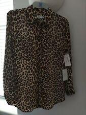 fec098ac6de2be ladies silk equipment shirt leopard print