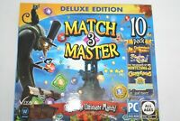 Match 3 Master Deluxe Edition 10PACK PC Windows Software Brand New