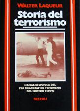 WALTER LAQUEUR STORIA DEL TERRORISMO RIZZOLI 1978