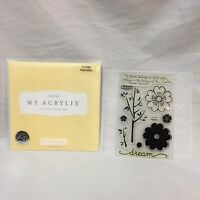 Close To My Heart Spring Acrylix C1340 Aspiration Stamp Set Future Beauty Dreams