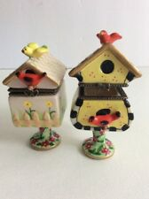 Limoge Style Set Birdhouses