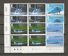 More details for british antarctic territory 2013 sg 630/3 mnh blocks of 4 cat £50