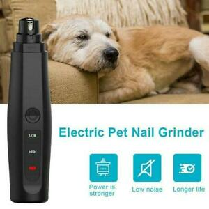 Rechargeable Pet Claw Grooming Trimmer, Electric Cat Dog Toe Nail File Grinder