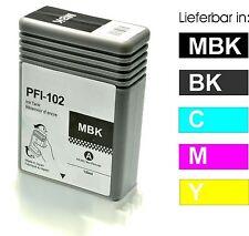 cartouches pour Canon iPF510 IPF605 IPF610 IPF650 IPF710 IPF755/PFI-102MBK