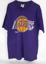 Los Angeles Lakers Large NBA Single Stitch Purple T Shirt Vintage