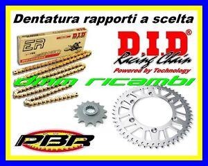 Kit Trasmissione Racing HONDA CRF 250 R 18>19 catena DID ERT2 PBR 2018 2019