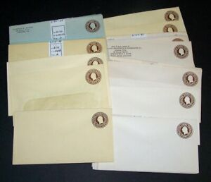 U.S. #U481-85 Mint Entires (x43) - 1 1/2c Browns ($103)