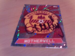 signed motherwell badge by ex player craig clay