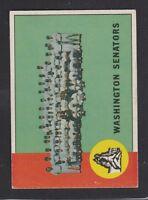 1963  TOPPS  BASEBALL #131  WASHINGTON  SENATORS TC  EX/EX+  CONDITION  INV 8430