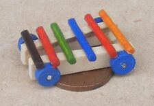 1:12th Scale Wooden Toy Pull Along Xylophone Dolls House Miniature Nursery