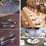 stainless  Cutlery rainbow rose gold black  wedding Tableware set silverware