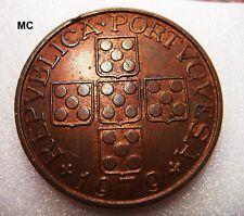 1979 Portugal Cuivre 1 escudo pièce en très fines coin ou pendentif
