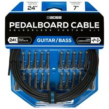 Boss Bck-24 Solderless Guitar Effects Pedalboard Cable Kit, 24 Plugs, 24' Cable