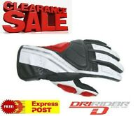 CLEARANCE!  NEW DRIRIDER Phantom Motorcycle gloves 2XL Red Leather Road Summer