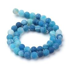 Frosted Blue Agate 8mm Beads - One Strand (approx 49 Beads) J34134xb