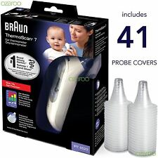 Braun ThermoScan 7 6520 Baby Professional Digital Ear Thermometer 41 Lens Covers