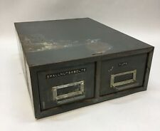 Vtg Steelmaster Metal 2 Drawer Tool/Library Index Card File Cabinet-Stackable