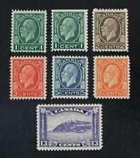 Ckstamps: Canada Stamps Collection Scott#195-201 Mint Nh/H Og