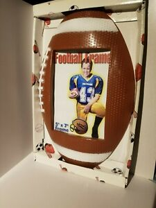Football Tackle Black Metal 3x5H Picture Frame