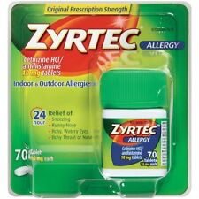Zyrtec 24 Hour Allergy 24 Hour Relief 70 Tablets 10 mg