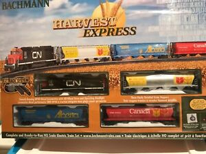 """Bachman  HO scale """"Harvest Express"""" complete electric train set"""