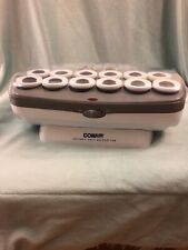 CONAIR Instant Heat Hairsetter Hot Rollers-Set of 12 Large Flocked Rollers - EUC