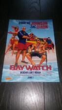 "BAYWATCH (FILM) PP SIGNED 12""X8"" A4 PHOTO POSTER DWAYNE JOHNSON ZAC EFRON"