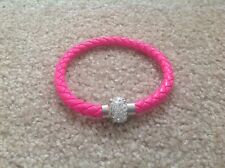 Hot Pink Magnetic Bracelet With Rhinestones