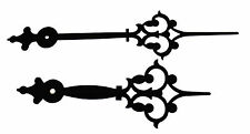 """New 8"""" Extra Fancy Large Black Clock Hands - Make Your Own!  (H-141B)"""
