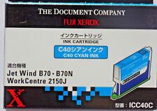 Lot of 6 Fuji Xerox ICC40C Cyan Ink Cartridge Jet Wind B70 B70N WorkCentre 2150J