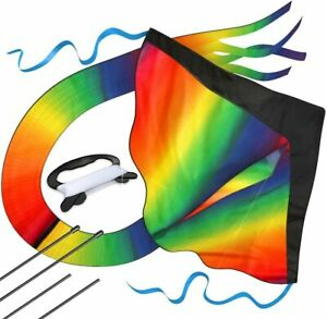 Huge Rainbow Kite for Kids with Safety Certificate Kite Easy To Fly for Outdoor