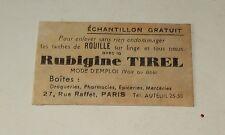 Sachet ECHANTILLLON de RUBIGINE Tirel pour enlever tâches de rouille sur linge