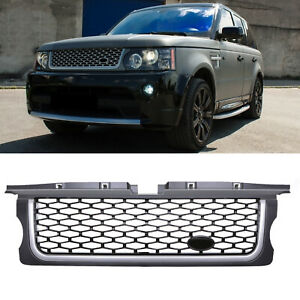 GREY AUTOBIOGRAPHY STYLE FRONT GRILL GRILLE FOR RANGE ROVER SPORT L320 05-09