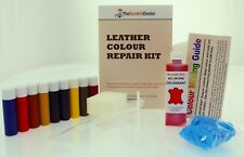 Maroon ALL IN ONE Dye Paint Repair Kit for Restoring Worn & Scratched Leather