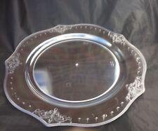 20 X  elegant embossed edge  design Clear Round Plastic Serving plate   25Cm