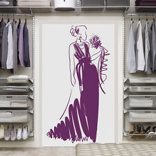 Interior Coco Chanel Wall Decal Sticker Design Fashion bride shopping girl i43